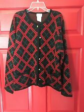 Liz Baker Button Down Front Cardigan Sweater w/Two Pockets Size Petite S