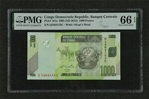 2005 Congo Democratic Republic Banque Centrale 1000 Francs Pick#101aPMG66EPQUNC
