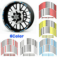 """RIM """"17 STRIPES WHEEL DECALS TAPE STICKERS FOR YAMAHA MT-09 TRACER"""
