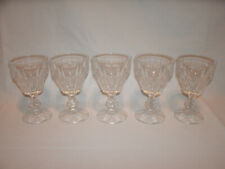 Clear Glass Wine Glasses or Goblets ~ Set of 5