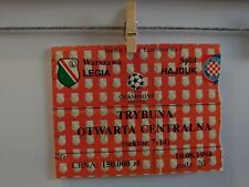 TICKET CLQ Legia Warszawa - Hajduk Split 94/95
