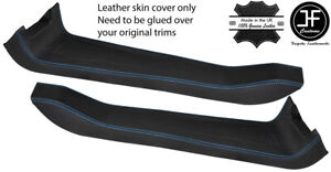 BLUE STITCH 2X DOOR SILL TRIM TOP GRAIN LEATHER COVER FOR LOTUS ELISE S2 01-10