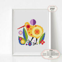 Kiwi Bird - Nursery art - Modern Embroidery Cross stitch PDF Pattern - 083