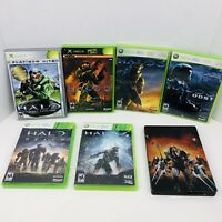 Halo Combat Evolved Halo 2 3 4 Halo Reach Halo Wars Microsoft Xbox 360 Lot Of 7