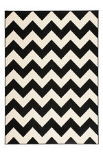 Zig Zag Pattern Shallow Pile Carpet Arabesque Nordic Scandic Retro Rugs 120cm X 170cm