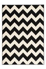 Zick Zack poil ras Tapis Arabesque nordique SCANDIC Tapis Noir 200x290 cm