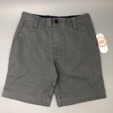 Wonder Nation Boys Flat Front Shorts Size 6 Grey School Uniform Approved New