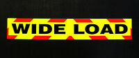 Wide Load Fluorescent Self Adhesive Warning Sign Large Sticker 1200mm