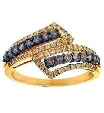 Right Hand Ring 10K Gold 0.50ct Round White & Choco Dia