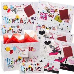 20pc Happy Birthday Gift Bag Set Cards Envelopes Tissue Paper Handles Party Bulk