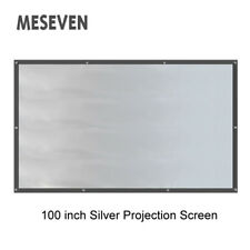 "100""16:9 Folding Gray Silver Front Projection Screen Curtains for 3D Projector"