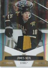 2010-11 Panini Certified Jersey JAMES NEAL Mirror Gold 04/25 # 46 Dallas Stars
