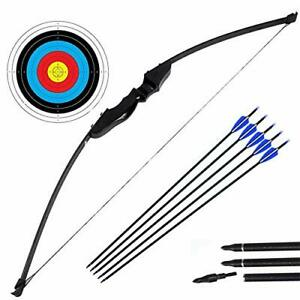 DOSTYLE Archery Takedown Recurve Bow and Arrow Set Hunting Long Bow Kit for O...