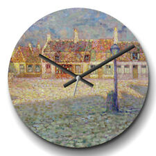 Large Wall Clock Silent Home Decor Henri Le Sidaner Small square Sunset Painting