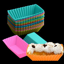 5x Colorful Flexibl Silicone Rectangle Cake Chocolate Mold Cake Tools Baking New