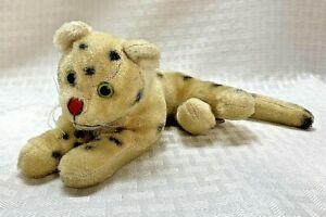 Vintage Dream Pets White Leopard Mohair Wool Plush Stuffed