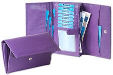 Rimbaldi moderne FEMMES Porte-monnaie en violet du non traité cuir