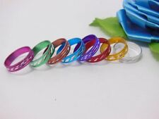 100Pcs New Fashion Aluminium Triple Lined Rings Mixed