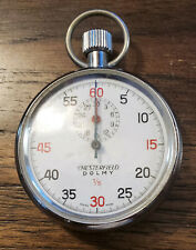 Vintage Swiss Made Chesterfield Dolmy 1/5  Mechanical Wind Up Stopwatch [Rare]