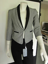REDUCED Miss Selfridge Ladies Black and White Dog Tooth Jacket Size 6 RRP £47.00