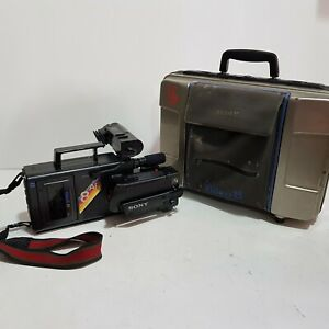 Sony Video 8 CCD-V8AF-E Video Camera Recorder & Carrying Case - FAULTY