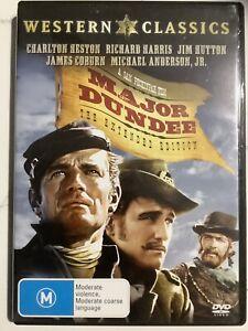 MAJOR DUNDEE - DVD Region 4 - Charlton Heston LIKE NEW CONDITION