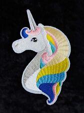 Unicorn Rainbow Iron On Patch Embroidered Badge Sticker Clothing