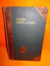 Stielers Hand Atlas 9. Auflage 1905 100 Karten Kupferstich 162 Nebenkarten  C14