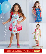 SEWING PATTERN! MAKE GIRL PILLOWCASE DRESS! SUMMER~PLAY CLOTHES SIZES 3~8!