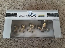 RARE Gold Version: Ford New Holland 100 Years Of Tractor Set 1:64 Scale.