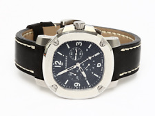 BURBERRY The BRITAIN LumiNova Black Leather Luxurious Chronograph Watch 0112
