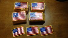 AMERICAN FLAG EMBROIDERED 200 PATCH GOLD BORDER USA US United States us marines