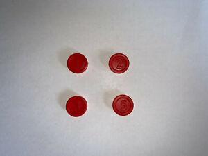 Slotter MB Rote Spielchips Chips Ersatzteile alte Ausgabe *70er Jahre