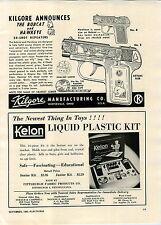 1948 PAPER AD Kilgore Toy Hawkeye Bobcat Toy Cap Gun Guns 50 Shot Repeater