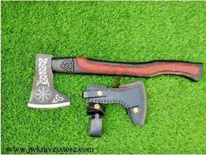 GROOMSMEN GIFT Forged Viking Axe Throwing Custom Handmade Carbon Steel Engraved