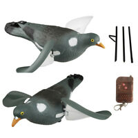 Motorized Pigeon Decoy with Ground Stake Electric Spinning Wing Dove for Hunting