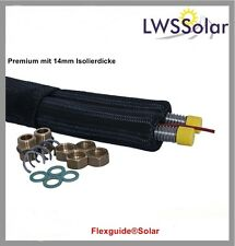 Solarleitung Solarrohr Edelstahlwellrohr DN 20 - 25 m