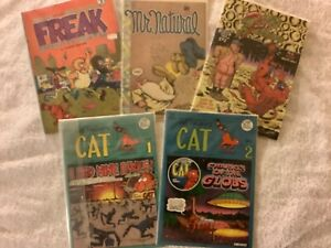 Mr. Natural, Freak Brothers, Underground Comic Book Collection