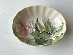 Peony HADIDA Floral Bathroom Soap Dish Porcelain Made In England Pink Flower EXC