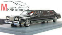 Scale model car 1:43 LINCOLN Towncar Formal Limousine ( stretch ) Black 1985