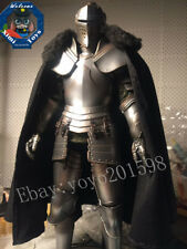 "1:6 Scale Black a royal knight fur collar cloak For 12"" Male Body Doll Toy"