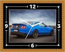 Ford Mustang (2) American Clock Present Christmas Birthday (Can Be Personalised)