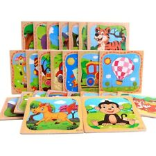 16 Pcs Wooden Jigsaw Puzzle Learning Preschool Educational DIY Toy Toddler Kids
