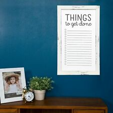 Rustic Whitewash to Do List Wall Mount Whiteboard White