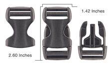 10 - 1 Inch YKK Flat Heavy Duty Dual Adjustable Side Release Plastic Buckles