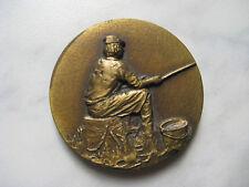 MEDAILLE de table de PECHE d=50 mm bronze