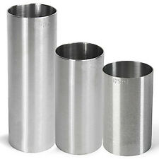Stainless Steel Thimble Wine Measures 125/175/250ml CE | 3 Bar Measure Set
