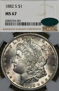 1882-S $1 NGC MS67 CAC Morgan Silver Dollar