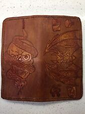 Men's Leather Wallet Check Book Cover