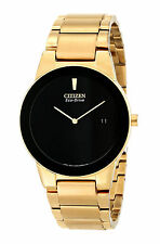 CITIZEN Eco-Drive AU1062-56E AXIOM 2-Hand Date Men's Gold Tone Watch